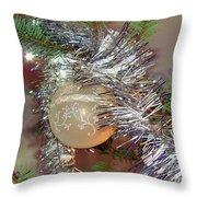 Christmas Bling Throw Pillow
