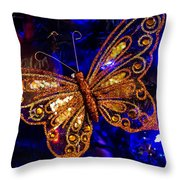 Christmas Butterfly Throw Pillow
