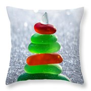 Christmas By The Sea Throw Pillow