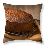 Christmas Cake Throw Pillow