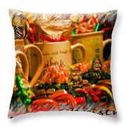 Christmas Candies Throw Pillow