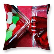 Christmas Candy - Candy Dish - Sweets - Treats Throw Pillow