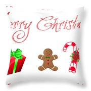 Christmas Card 25 Throw Pillow