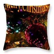 Christmas Card 3 Throw Pillow