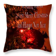 Christmas Card 4 Throw Pillow
