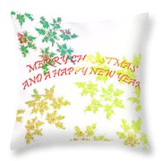 Christmas Card I Throw Pillow by Tatjana Popovska