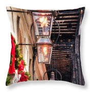 Christmas Card New Orleans Throw Pillow