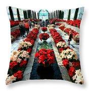 Christmas Card Sunken Garden Throw Pillow