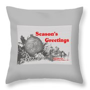 Christmas Cards And Artwork Christmas Wishes 55 Throw Pillow