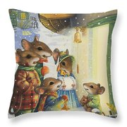 Christmas Carols Throw Pillow
