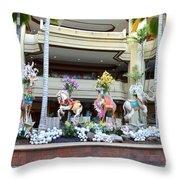 Christmas Carousel Animals Throw Pillow