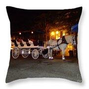 Christmas Carriage Throw Pillow