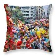 Christmas Celebration Throw Pillow
