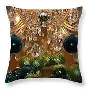 Christmas Chandelier Throw Pillow