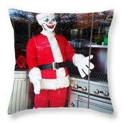 Christmas Clown Throw Pillow