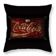 Christmas Coca Cola 1881 Santa Throw Pillow