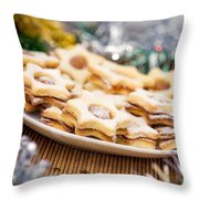 Christmas Cookies Throw Pillow by Viktor Pravdica