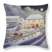 Christmas Corral Throw Pillow