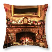Christmas Cosy Corner Throw Pillow