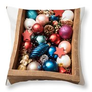 Christmas Decorations Throw Pillow by Viktor Pravdica