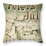Christmas: Denmark, 1929 Throw Pillow