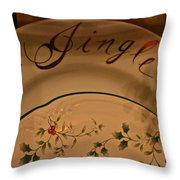 Christmas Dinnerware Throw Pillow