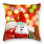 Christmas Dog Throw Pillow