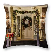 Christmas Door 1 Throw Pillow