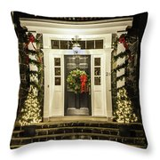 Christmas Door 2 Throw Pillow