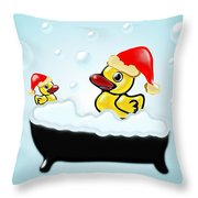 Christmas Ducks Throw Pillow