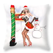 Christmas Elf Cleo Throw Pillow