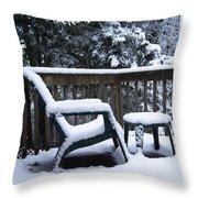 Christmas Eve Deck Chair Throw Pillow