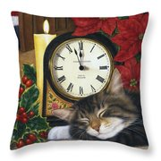 Christmas Eve Nap Throw Pillow
