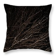 cHRISTMAS eVE sNOW Throw Pillow