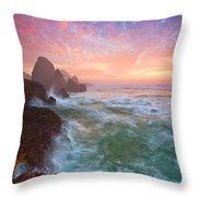 Christmas Eve Sunset Throw Pillow