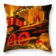Christmas Express Throw Pillow