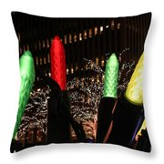 Christmas Festive In New York City Throw Pillow
