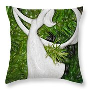 Christmas Figure Skater Throw Pillow