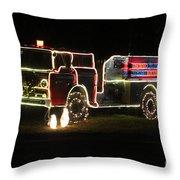 Christmas Fire Truck 2 Throw Pillow