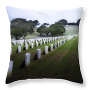 Christmas Fort Rosecrans National Cemetery  Throw Pillow