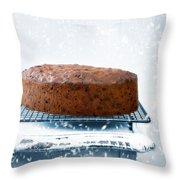 Christmas Fruit Cake Throw Pillow by Amanda Elwell