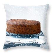 Christmas Fruit Cake Throw Pillow