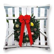 Christmas Garland Throw Pillow