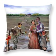 Christmas Gift - An Antebellum Christmas Throw Pillow by Reggie Duffie