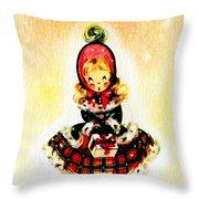 Christmas Girl Throw Pillow