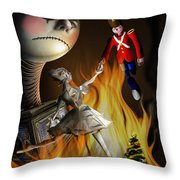 Christmas Greeting Card IIi Throw Pillow by Alessandro Della Pietra