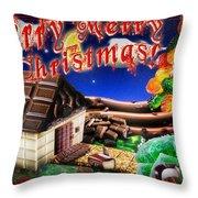 Christmas Greeting Card Iv Throw Pillow