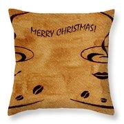 Christmas Greeting Throw Pillow