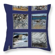 Christmas Greetings From The Coast Throw Pillow