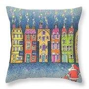 Christmas Greetings  Throw Pillow